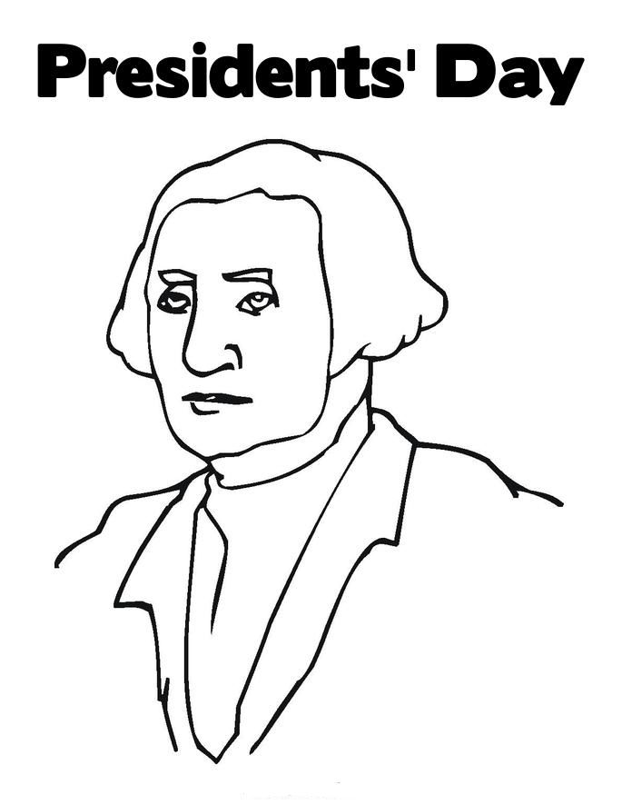 George Washington Presidents Day Coloring Pages