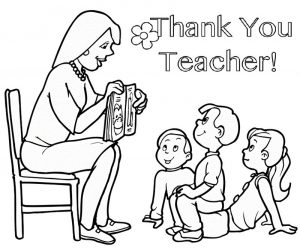 Gift card thank you teacher coloring sheet