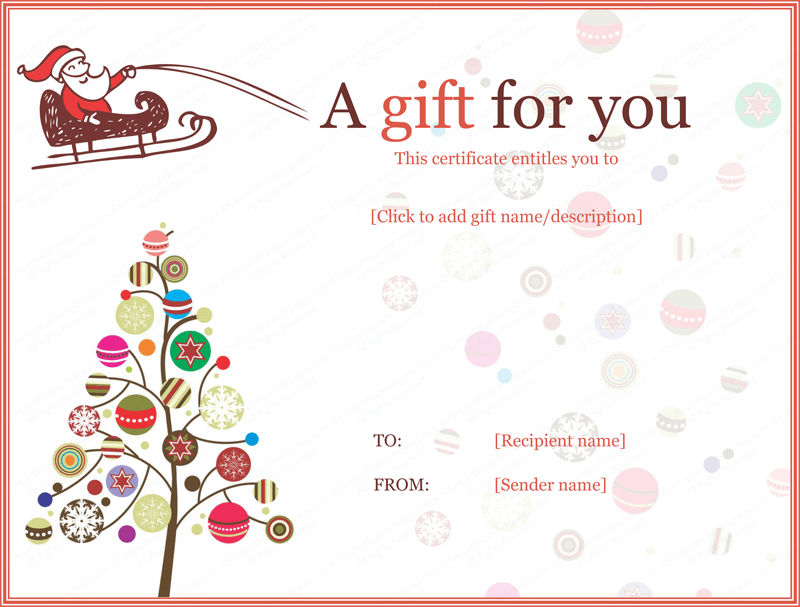 Gift Certificate Template For Kids Christmas 001