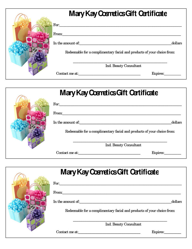 Gift Certificate Template For Women