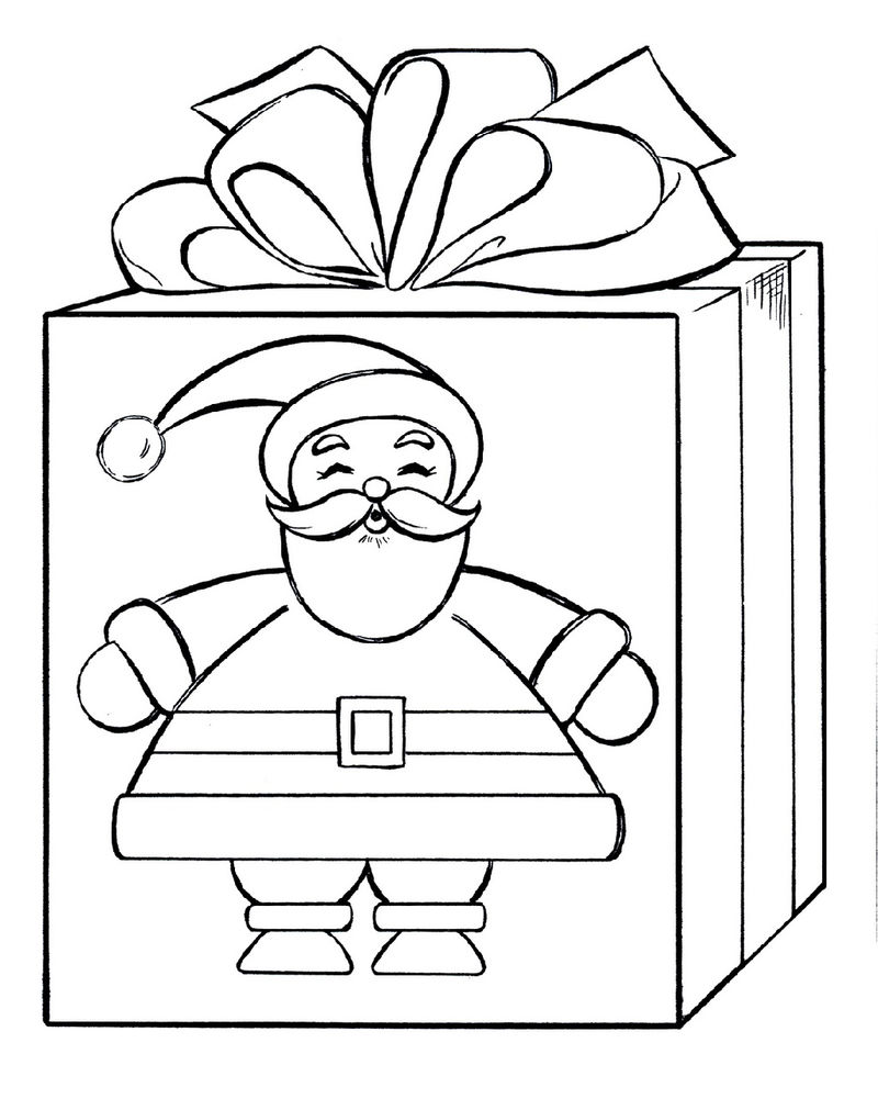 Gift Coloring Santa Coloring Picture