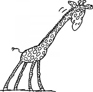 Giraffe happy coloring pages
