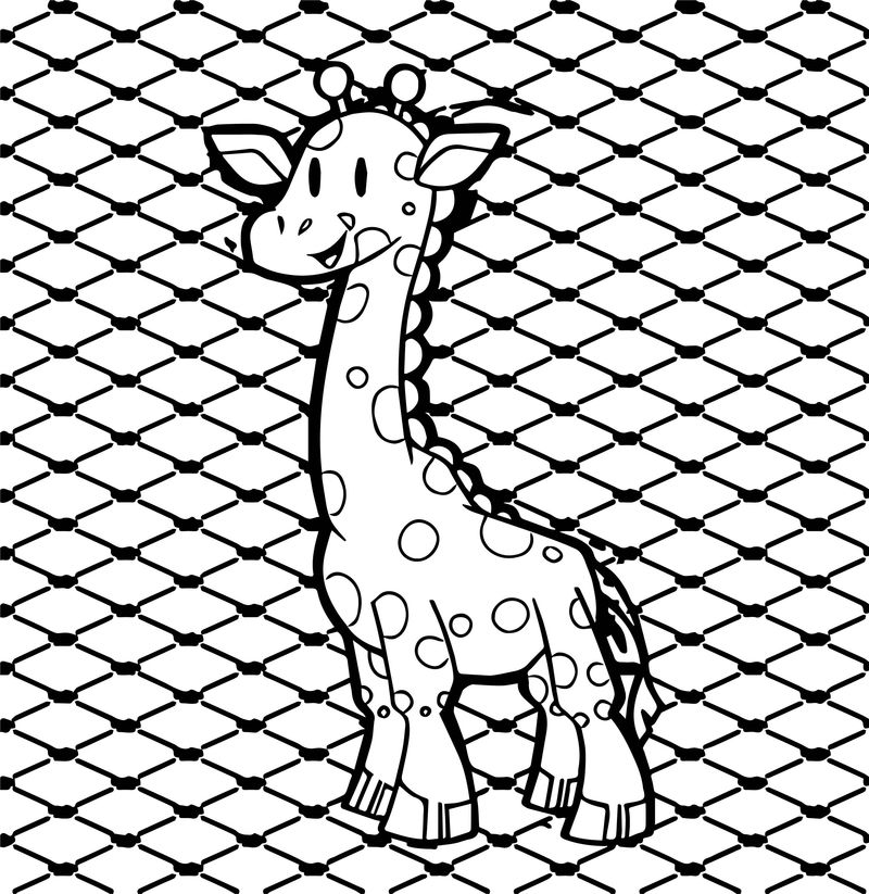 Giraffe Paper Coloring Page