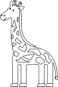 Giraffe pleasant coloring page