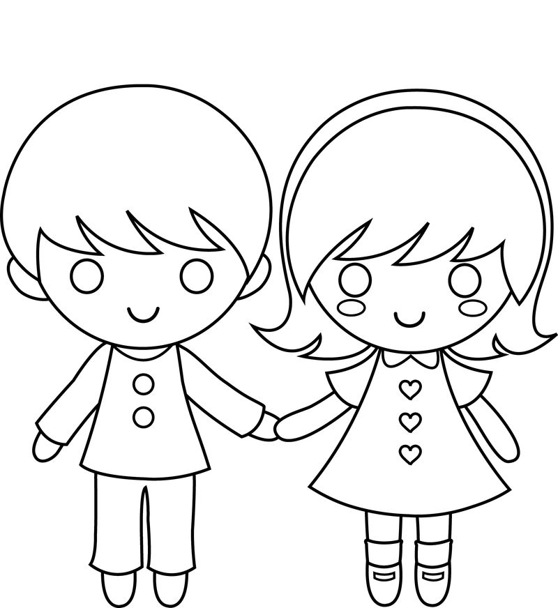 Girl And Boy Colour In Template Pdf