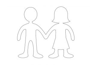 Girl and boy templates printable
