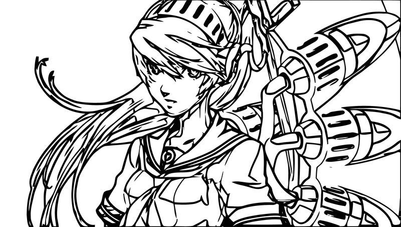 Girl Anime Supernoobs Coloring Page