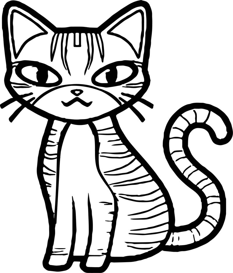 Girl Cat Coloring Pages