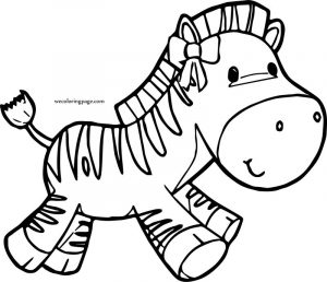 Girl cow cartoon coloring page