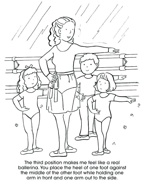 Girls Ballet Dance Class Coloring Pages