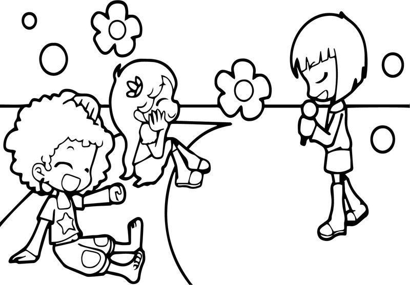 Girls Song Coloring Page