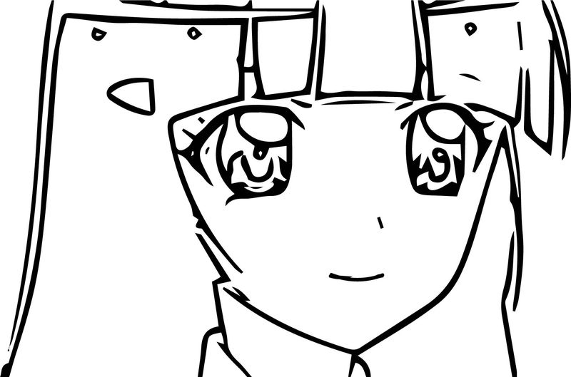 Glitter Force Girl Face Coloring Page