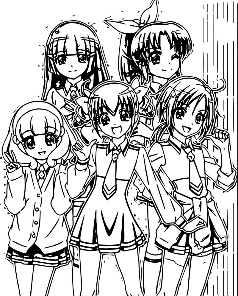 Glitter Force Girls Team Coloring Page - Coloring Sheets