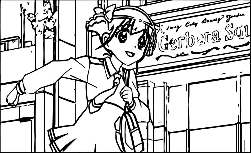 Glitter Force Running Girl Coloring Page