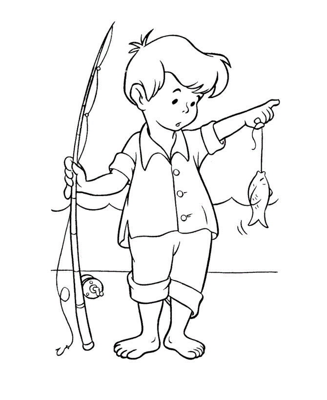 Go Fishing Coloring Pages 001