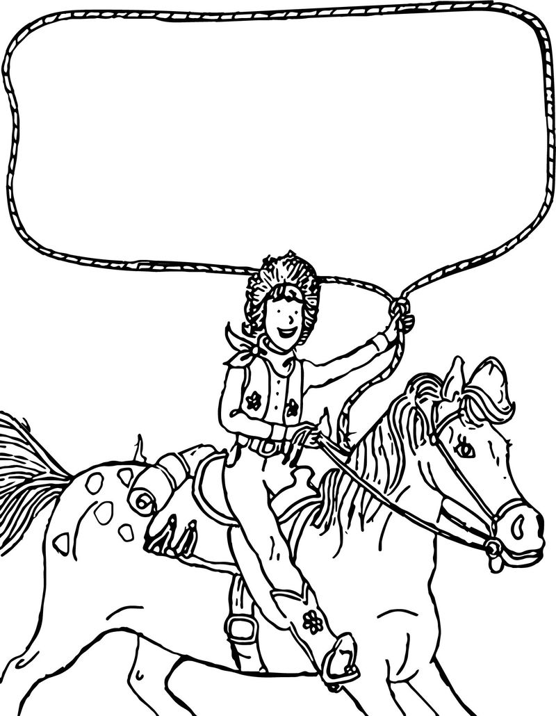 Go West Amelia Bedelia On The Horse Coloring Page
