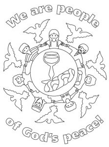 Gods peace bible coloring page
