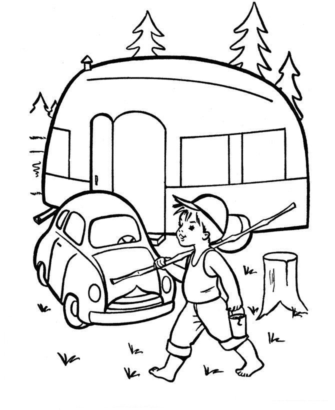 Goin Fishin Coloring Page 001