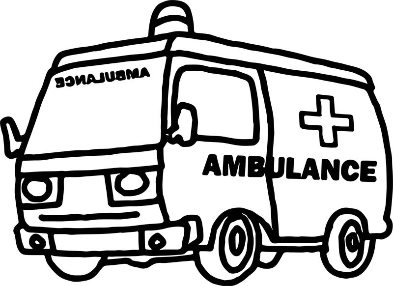 Going Ambulance Coloring Page