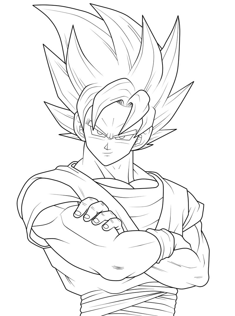 Goku Super Saiyan Dragon Ball Z Coloring Pages 001