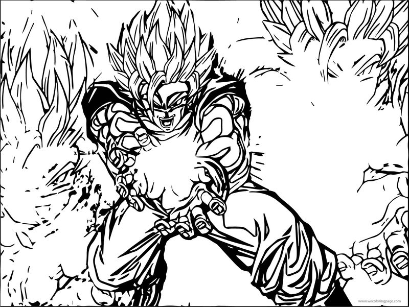 Goku We Fire Coloring Page