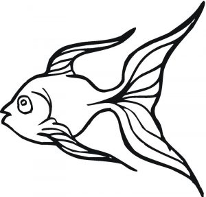 Goldfish coloring pages to print