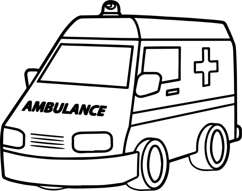 Good Ambulance Coloring Page - Coloring Sheets