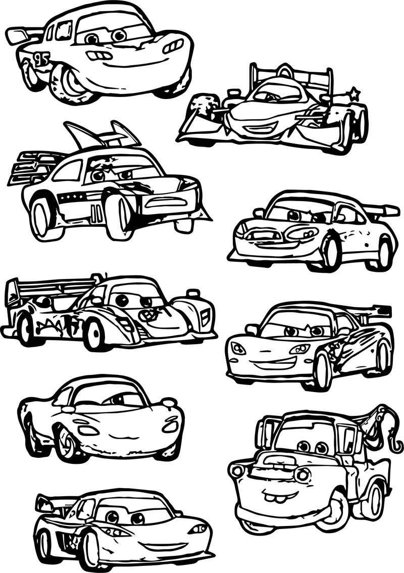 Good Chibi Cars Characters Coloring Page