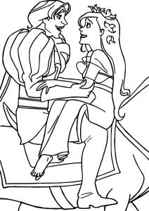 Good disney enchanted very happy prince and princes coloring pages