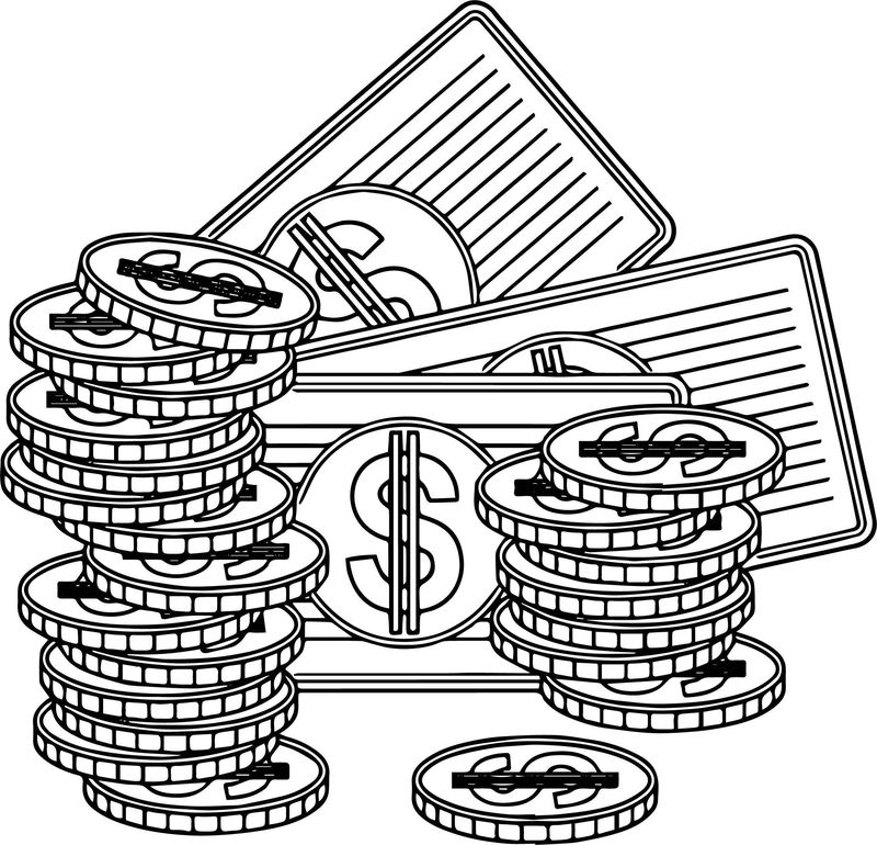 Good Specie And Paper Money Coloring Page
