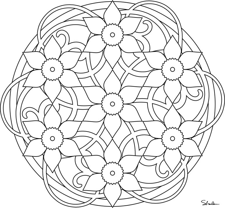 Gorgeous Flower Mandalas For Kids