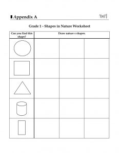 Grade 1 worksheets shapes