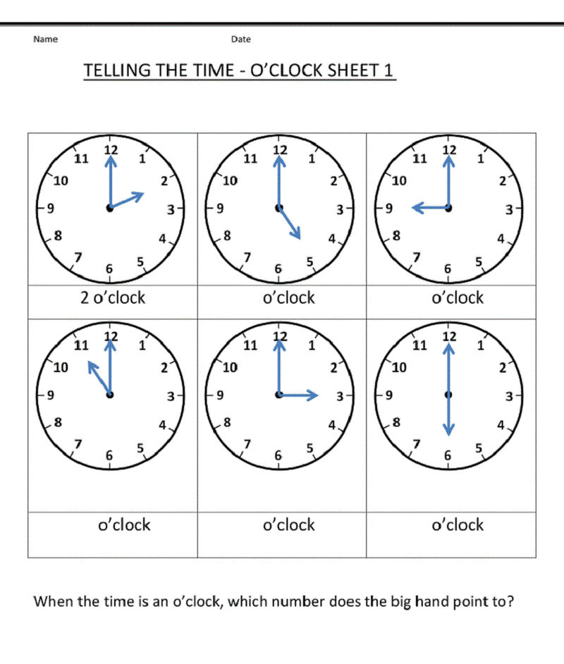 Grade 1 Worksheets Telling Time 001 - Coloring Sheets
