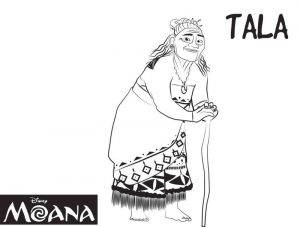 Gramma tala moana coloring pages