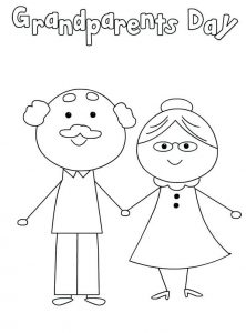 Grandparents day coloring page free