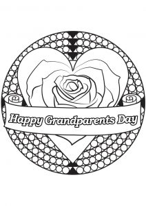 Grandparents day coloring pages