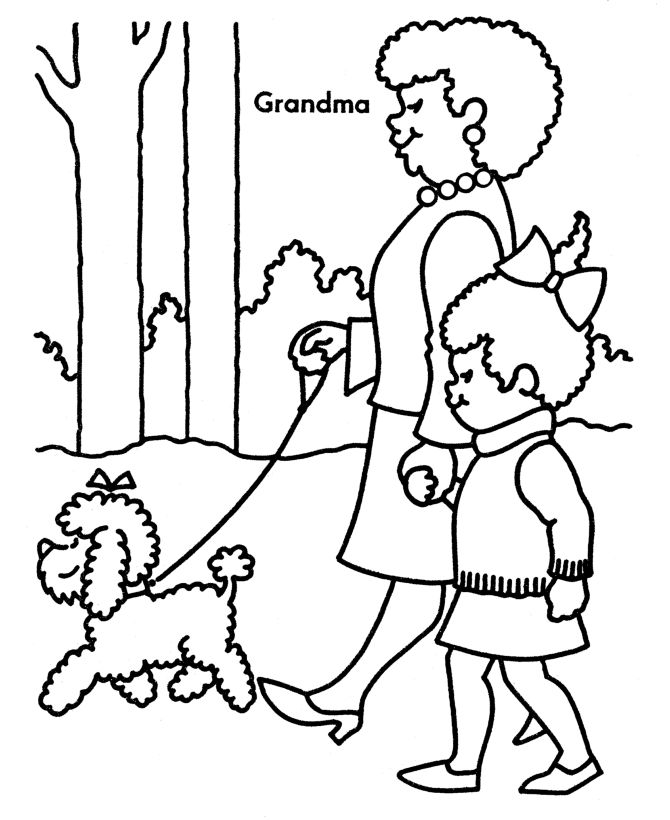 Grandparents Day Coloring Pages 1