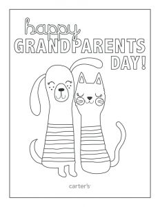 Grandparents day free coloring pages
