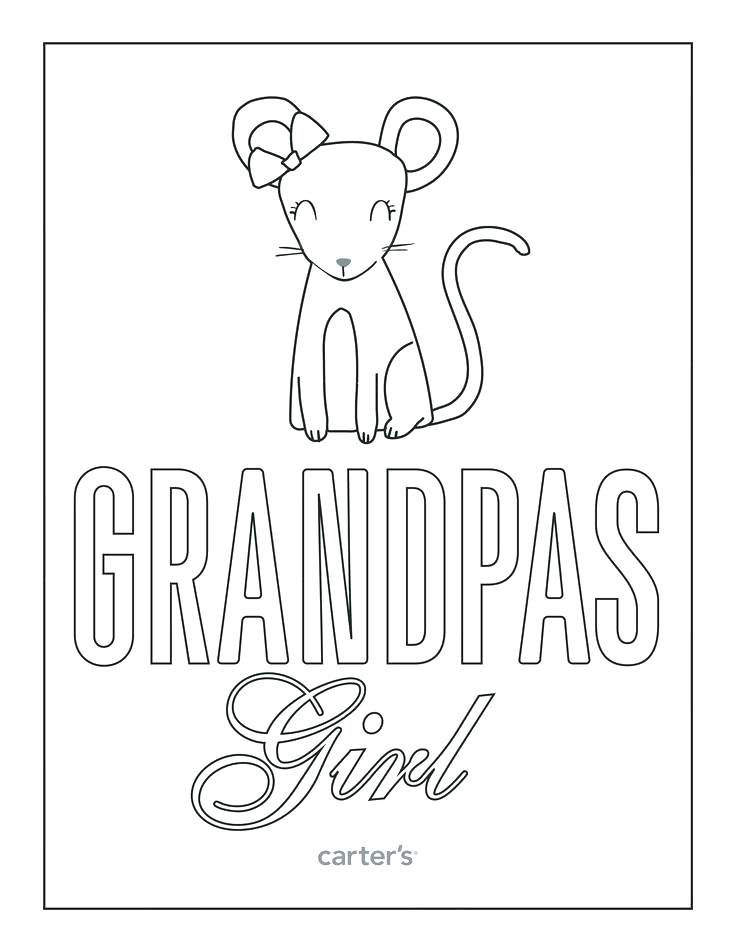 Grandpas Girl Coloring Page