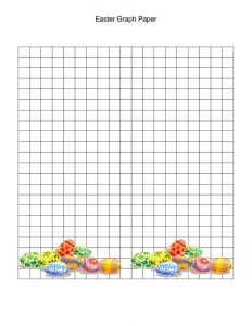 Graph paper worksheets easter