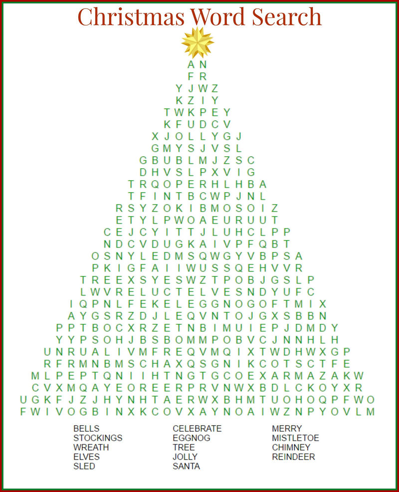 Great Day Word Search Christmas