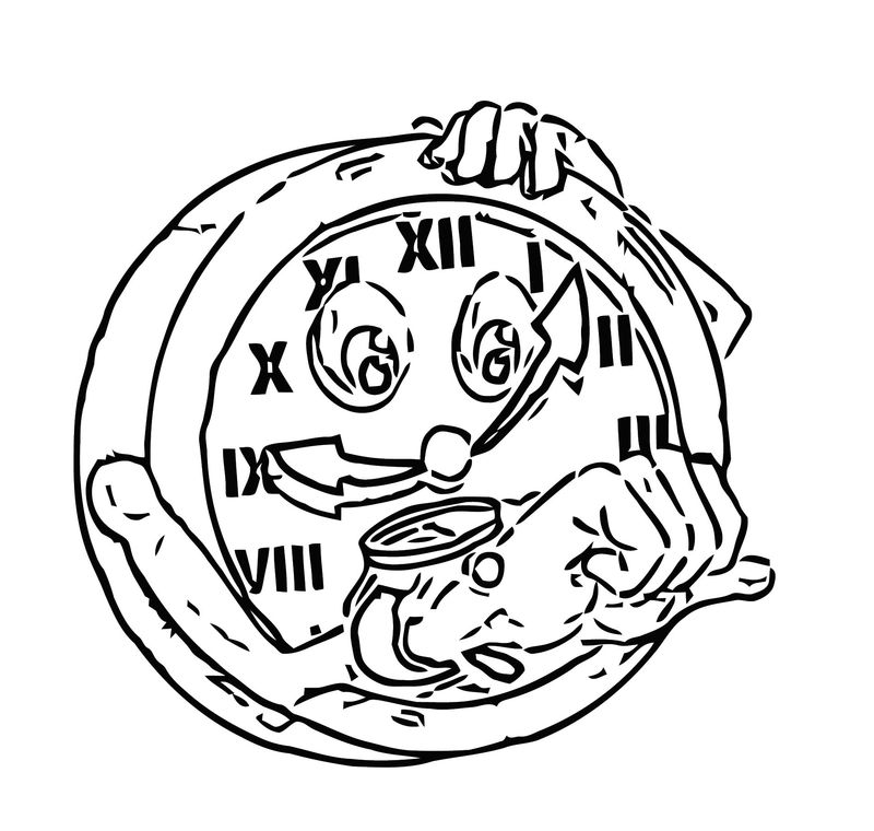 Greeting Card Wallpaper Of Clock Waiting Daylight Saving Time En Free Printable Ds Cartoonized Free Printable Coloring Page