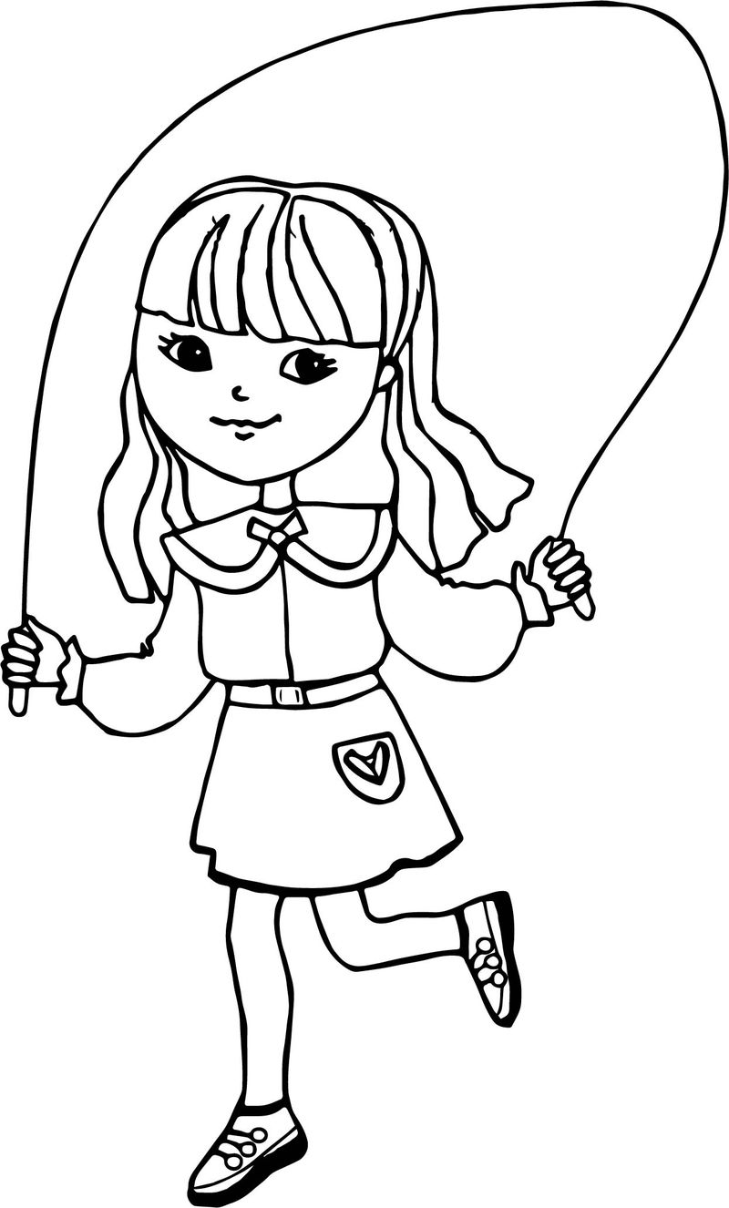 Gross Motor Activity Coloring Page