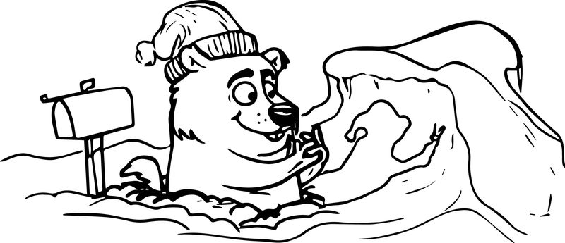Groundhog Day Cartoon Coloring Sheet Free Pages