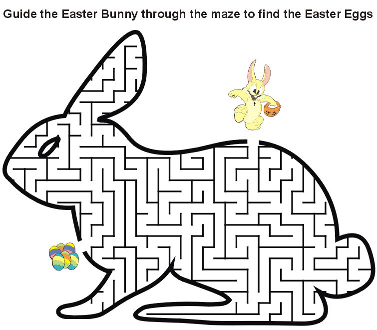 Guide The Easter Bunny Maze