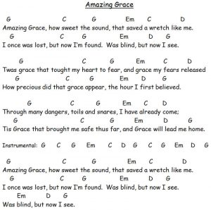 Guitar chords for amazing grace 2 002