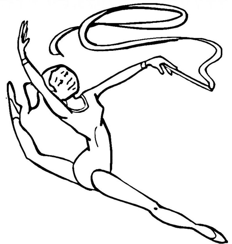 Gymnastics Coloring Pages For Kids 001