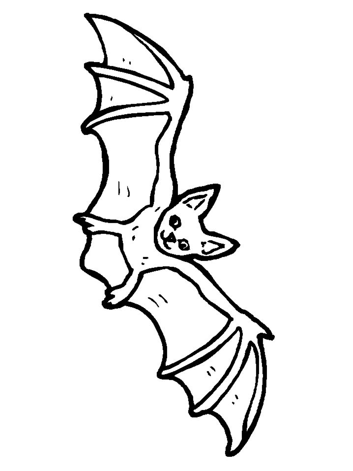 Halloween Bat Coloring Pages 1