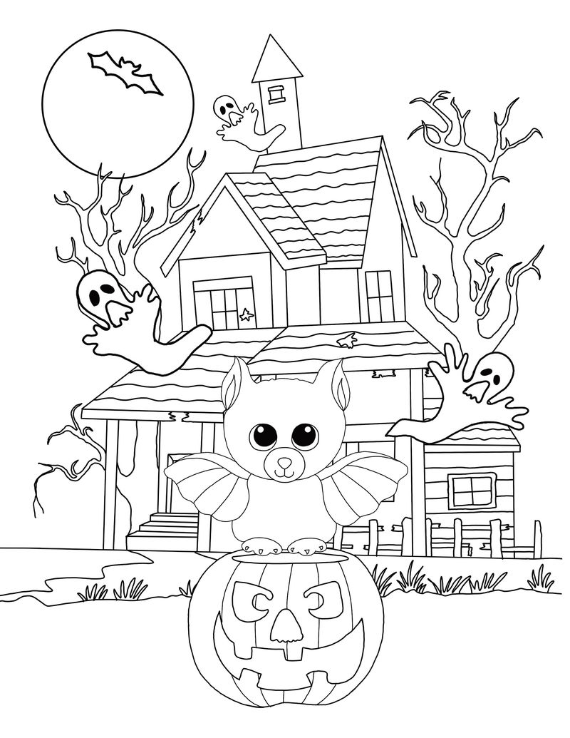 Halloween Beanie Boo Coloring Pages