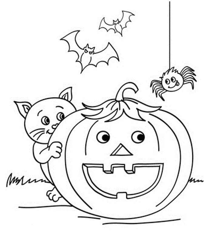 Halloween Color Pages For Kids